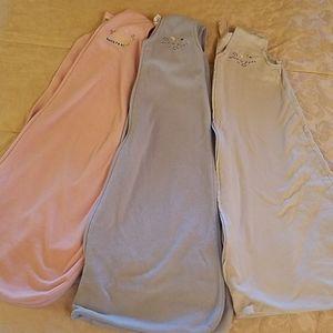 Bundle of three sleep sacks